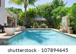 luxury swimming pool and... | Shutterstock . vector #107894645