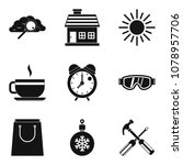 warm atmosphere icons set.... | Shutterstock .eps vector #1078957706