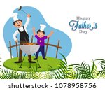 chef  and father teaching his... | Shutterstock .eps vector #1078958756