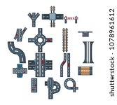 road parts constructor icons...   Shutterstock .eps vector #1078961612