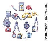 measure precision icons set.... | Shutterstock .eps vector #1078962482