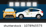 car crash test | Shutterstock .eps vector #1078965575
