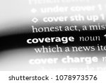 coverage word in a dictionary.... | Shutterstock . vector #1078973576