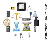 measure precision tools icons... | Shutterstock .eps vector #1078974335