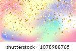 random falling golden stars on ... | Shutterstock .eps vector #1078988765