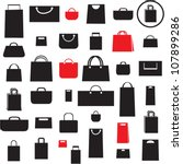shopping bag icons set. sale... | Shutterstock .eps vector #107899286