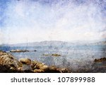 Vintage Sea Landscape