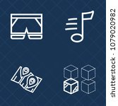 premium set of outline vector... | Shutterstock .eps vector #1079020982