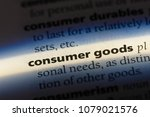 Small photo of consumer goods word in a dictionary. consumer goods concept