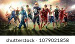 successful football  soccer ... | Shutterstock . vector #1079021858