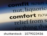 comfort word in a dictionary.... | Shutterstock . vector #1079023436