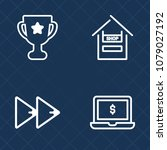 premium set of outline vector... | Shutterstock .eps vector #1079027192