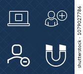 premium set of outline vector... | Shutterstock .eps vector #1079027786