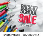 back to school vector banner... | Shutterstock .eps vector #1079027915