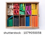 colorful cuisenaire rods.... | Shutterstock . vector #1079050058
