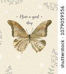 watercolor butterfly. butterfly ...   Shutterstock . vector #1079059556