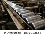 close up conveyor roller...   Shutterstock . vector #1079063666