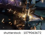 worker cutting steel  using...   Shutterstock . vector #1079063672