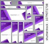 web banner design template... | Shutterstock .eps vector #1079072738