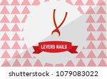 levers nails tack icon with a... | Shutterstock .eps vector #1079083022