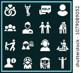 set of 16 people filled icons... | Shutterstock .eps vector #1079089052