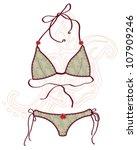 women bathing suits. vector... | Shutterstock .eps vector #107909246