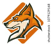 fox head mascot | Shutterstock .eps vector #1079129168