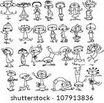cute happy cartoon kids | Shutterstock .eps vector #107913836