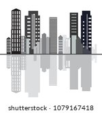 creative city sky line design... | Shutterstock .eps vector #1079167418