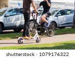 tel aviv rothschild street ... | Shutterstock . vector #1079176322