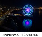 seattle waterfront night view | Shutterstock . vector #1079180132