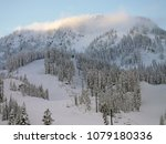 sunrise at stevens pass ... | Shutterstock . vector #1079180336
