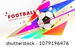 football abstract design... | Shutterstock .eps vector #1079196476