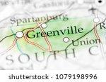 greenville  usa on a map.    Shutterstock . vector #1079198996