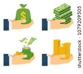 set a various kind of money.... | Shutterstock .eps vector #1079209505
