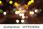 defocused bokeh  traffic jam on ... | Shutterstock . vector #1079226962