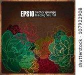 eps10 vintage floral background | Shutterstock .eps vector #107922908