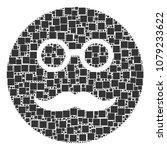 pension smiley composition icon ... | Shutterstock .eps vector #1079233622