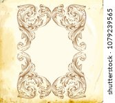 retro baroque decorations... | Shutterstock .eps vector #1079239565