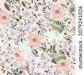 floral cute pattern with... | Shutterstock .eps vector #1079241026