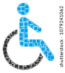 disabled person composition... | Shutterstock .eps vector #1079241062