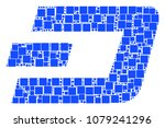 dash currency mosaic icon of... | Shutterstock .eps vector #1079241296