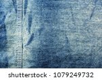 close up old blue cloth texture ... | Shutterstock . vector #1079249732