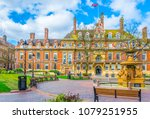 view of town hall in leicester  ... | Shutterstock . vector #1079251955