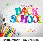 creative back to school banner... | Shutterstock .eps vector #1079261882