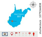 west virginia vector map... | Shutterstock .eps vector #1079266838