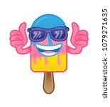 icon funny sweet colorful ice... | Shutterstock .eps vector #1079271635