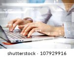 business person working on... | Shutterstock . vector #107929916