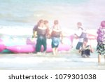 blur people on the beach   Shutterstock . vector #1079301038