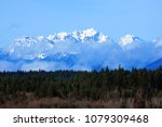 The Olympic Mountains in winter, viewed from the Clear Creek Trail in Silverdale, Washington on Jan. 24, 2016.